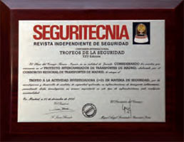 Awards of SEGURITECNIA magazine as regards safety