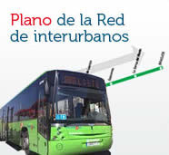 Plano de la red de interurbanos
