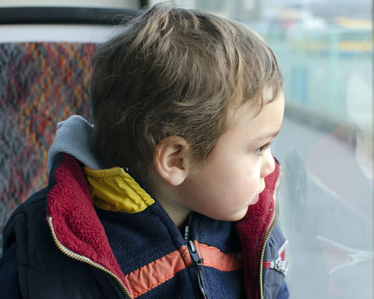 Child on a bus