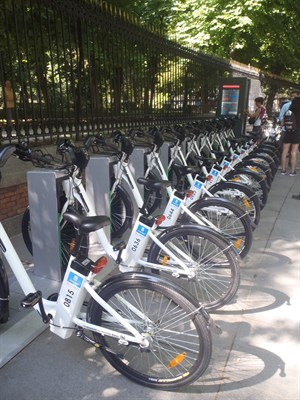 Public bicycles in Madrid