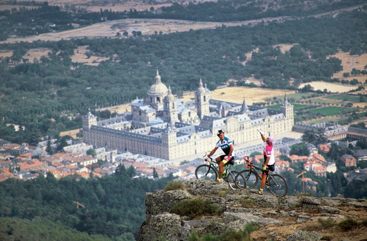 Views of the Monastery of El Escorial from a bike