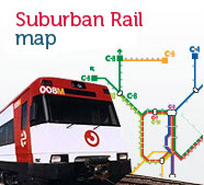 Suburban train map, open new window