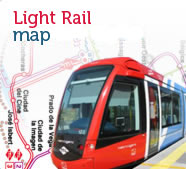 Light rail map, open new window